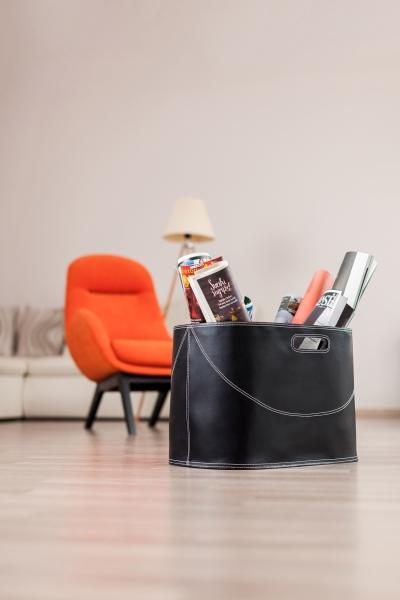 HANSA GENUINE LEATHER Firewood Log Basket model H1