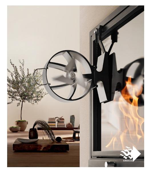 SIROCCO PLUS (fireplace fan) – HANSA